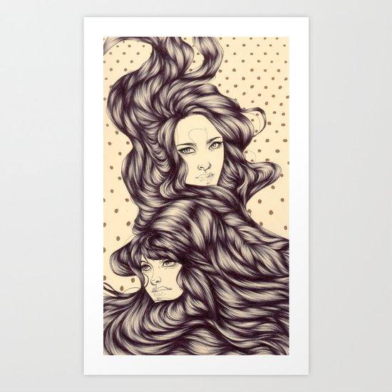 Hair Tide Art Print