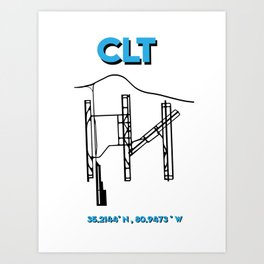 CLT TEAL Art Print