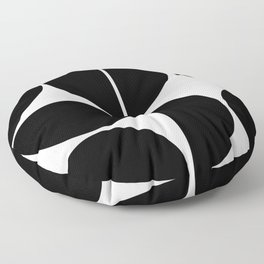 Mid Century Modern Black Square Floor Pillow
