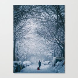 Blizzard in the City Canvas Print