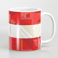 america Mugs featuring America by Fimbis
