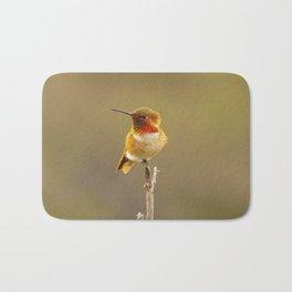 Heavenly Hummingbird by Reay of Light  Bath Mat
