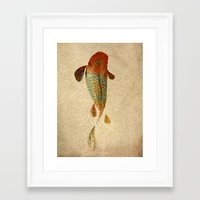 koi Framed Art Prints featuring Mystic Koi by Fernando Vieira