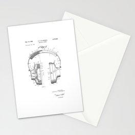 patent art Falkenberg Headphone assembly 1966 Stationery Cards