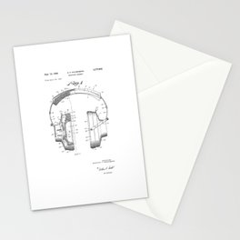 patent art Falkenberg Headphone assembly 1966 Stationery Cards