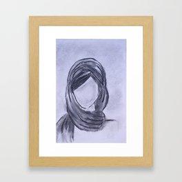 Girl with Head Scarf Framed Art Print
