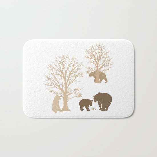 Morning Bears In The Woods No. 2 Bath Mat