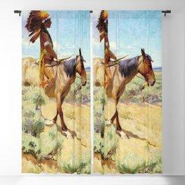 """The Chief"" Western Art by W Herbert Dunton Blackout Curtain"