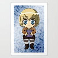 shingeki no kyojin Art Prints featuring Shingeki no Kyojin - Chibi Armin by Tenki Incorporated