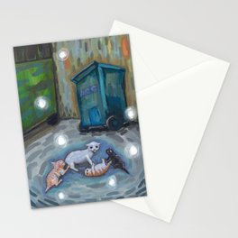 Back alley shenanigans Stationery Cards