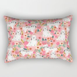 Havanese floral dog breed pure breed dog gifts Rectangular Pillow