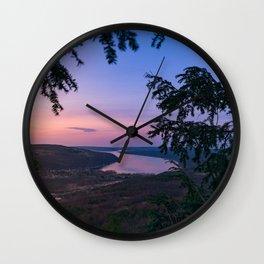 Sunset over Keuka Wall Clock