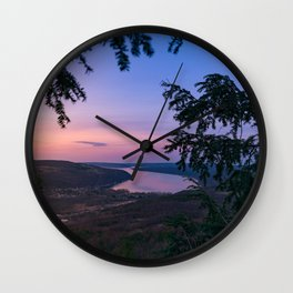 Sunset over Keuka Wall Clock