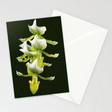 Green Orchid Stationery Cards