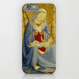 "Fra Angelico (Guido di Pietro) ""Madonna of Humility"" 1430 iPhone Case"