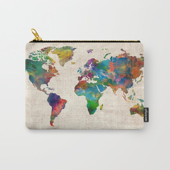 world map Carry-All Pouch