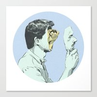 mask Canvas Prints featuring Mask by Señor Salme