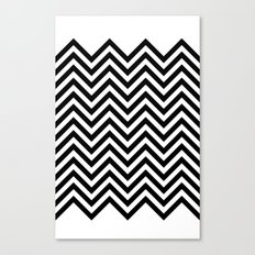 Black Lodge Zig Zag Canvas Print