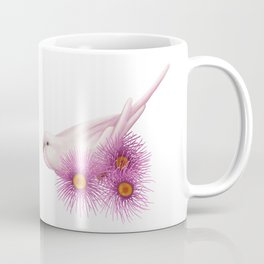 White Budgerigar Coffee Mug