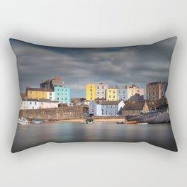 Tenby harbour Pembrokeshire Rectangular Pillow