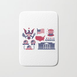 Proud To Be American Happy National Presidents Day Bath Mat