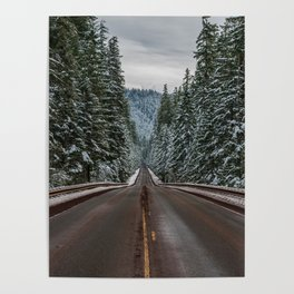 Winter Road Trip - Pacific Northwest Nature Photography Poster