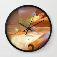 baking Wall Clocks featuring Baking by Karen Herman Jacquez