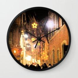 Starry Night in Rome. Wall Clock