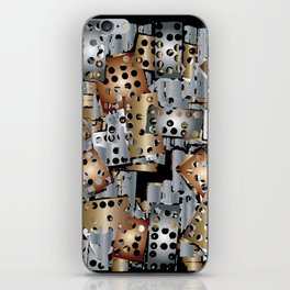 metal scraps iPhone Skin