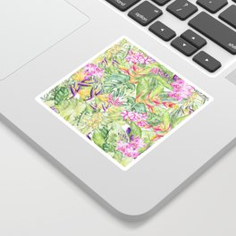 Tropical Garden 1A #society6 Sticker