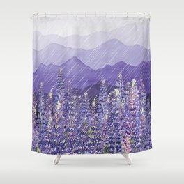 Purple Mountain Rain Shower Curtain