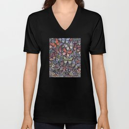 butterflies galore grunge version Unisex V-Neck