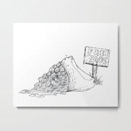 Free Tacos Metal Print