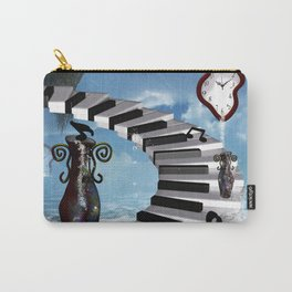 Piano on the beach with clef Carry-All Pouch