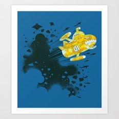 yellow battleship Art Print