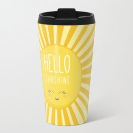KAWAII SKY - happy smiling sun - hello sunshine quote Travel Mug