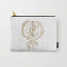 Desert Cactus Dreamcatcher in Gold Carry-All Pouch