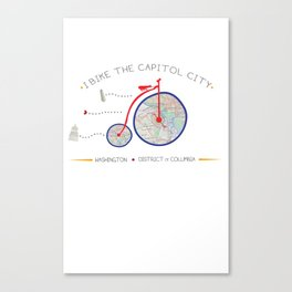 I Bike the Capitol City by Jodene Warden Canvas Print