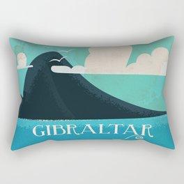 Gibraltar vintage Travel poster Rectangular Pillow