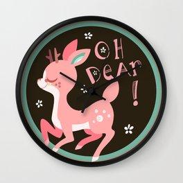 Oh DEAR! .:Brown BG:. Wall Clock