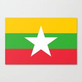 flag of Myanmar Canvas Print