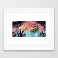 unicorns Framed Art Prints featuring Unicorns by David Pavon