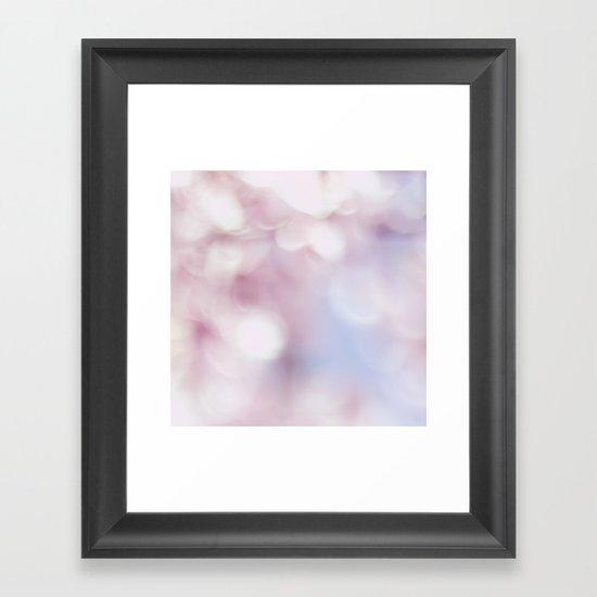Blossom bokeh Framed Art Print