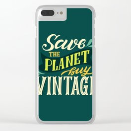 Save The Planet, Buy Vintage Clear iPhone Case