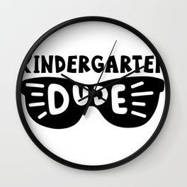 Kindergarten dude Wall Clock