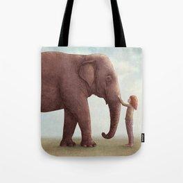 One Amazing Elephant - Back Cover Art Tote Bag