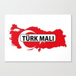 made in turkey country national flag map  Canvas Print
