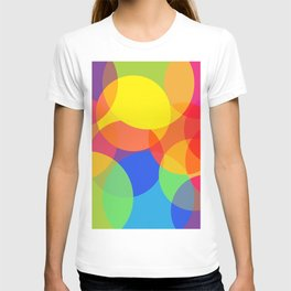 Abstract Colorful Round Lights T-shirt