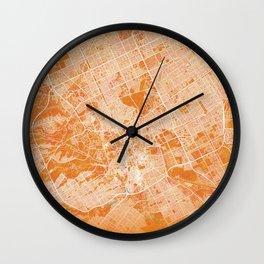 Riyadh, Saudi Arabia, Gold, Blue, City, Map Wall Clock