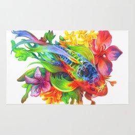 Rainbow Koi Rug